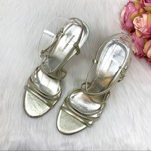 Banana Republic Light Gold Metallic Heels Size 8.5
